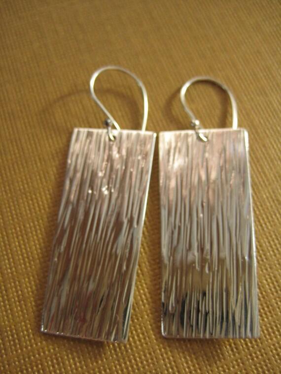 Wide field earrings sterling