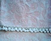 Vintage-Style Cotton Chenille Blanket