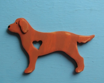 Golden Retriever Rustic Heart Dog