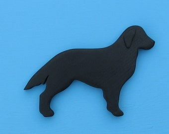 Flat Coated Retriever Black Dog Rustic Shelf Decoration