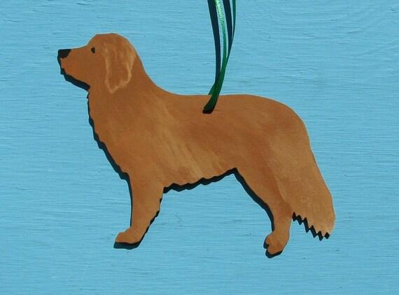 Nova Scotia Duck Tolling Retriever Dog - Handpainted Wood Ornament Decoration
