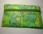 seaweed pattern tyvek coin purse
