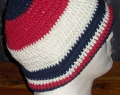 PATRIOTIC HAT IN RED WHITE AND BLUE