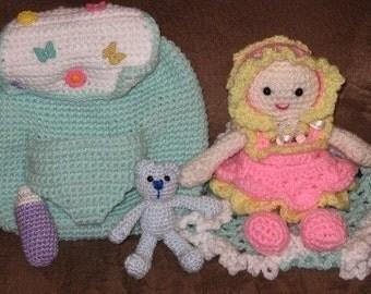 Back Pack Baby   Crochet pattern