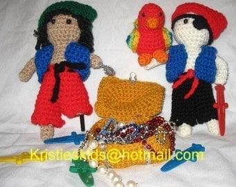 Pirates  Crochet pattern set