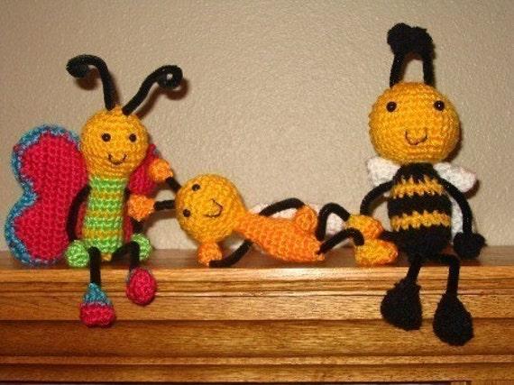 Computer bugs crochet pattern