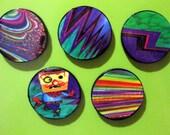 Colorful Nutjob, magnet set