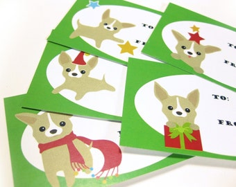 Chee-S the Chihuahua Holiday Gift Tags GTCS002