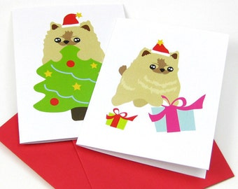 10 Pomeranian Greeting Cards CAPP001