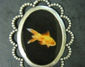 Gold fish pendant