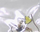 Simple Yellow Heart Earrings