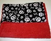Tattoo Skulls & Cross Bones Chenille Blanket made for Violet Maeve