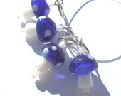 Blue Magic Mushrooms Stitch Markers - set of four - US7