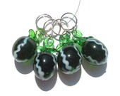 Juicy Watermelon Stitch Markers - set of four - US10