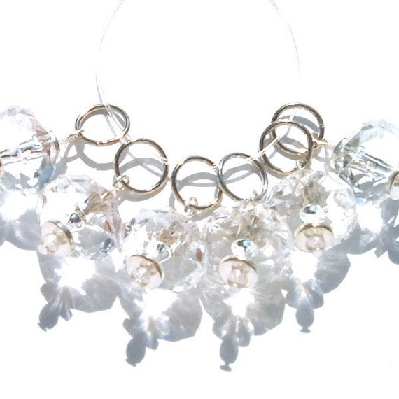 Crystal Clear Jewels Stitch Markers - set of six - US7