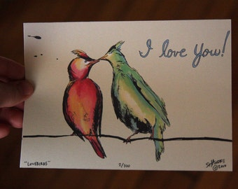 SALE - I Love You - 5 x 7 Limited Edition Print