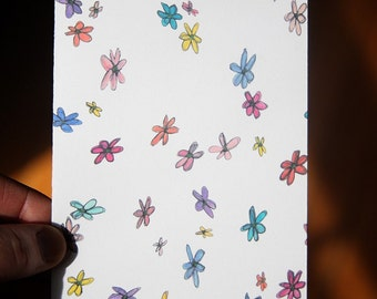 SALE - Wildflowers All Over - note card