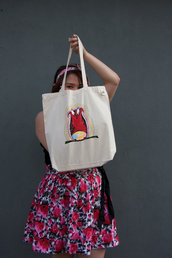 Psychedelic Owlie Tote - Limited Edition and Hand-Painted