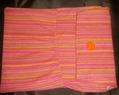 Sherbet Stripes Diaper and Wipes Clutch