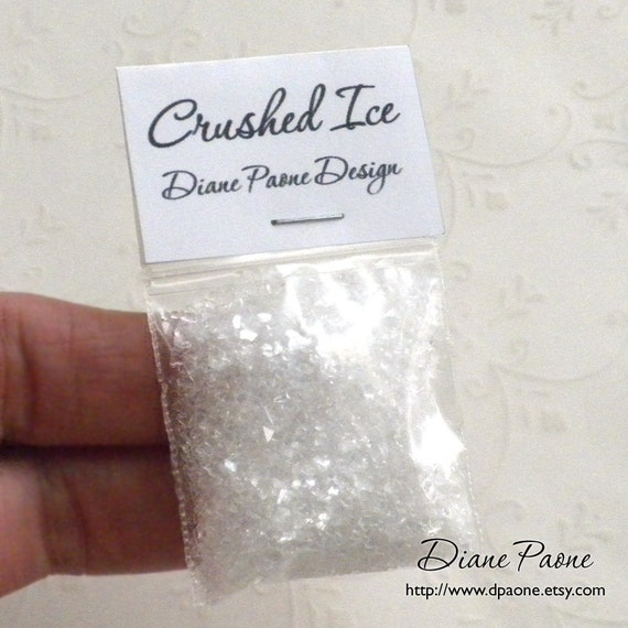 Crushed Ice for Miniature Seafood and Cold Displays - Dollhouse Miniature Food Supplies