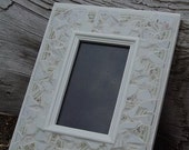 handmade floral china mosaic photo frame 4x6