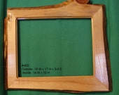 Cedar Picture Frame, Primative And Rustic