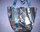 Vintage Tie Purse, Tote, Handbag