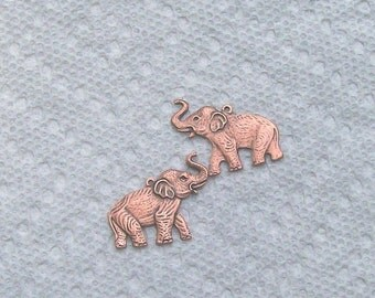 Elephants In Copper One Pair