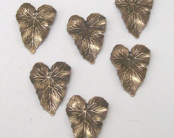 Brass Leaves Medium Size Six Pieces