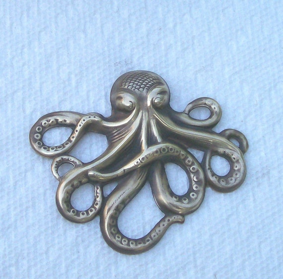 Brass Octopus Vintage Finish Two Pieces