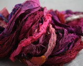 Helping A Sister Out - 3.5oz Recycled Sari Silk Ribbon - Hot Pink