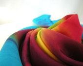 Play Silk Yellow Star Rainbow Mandala Tie Dye
