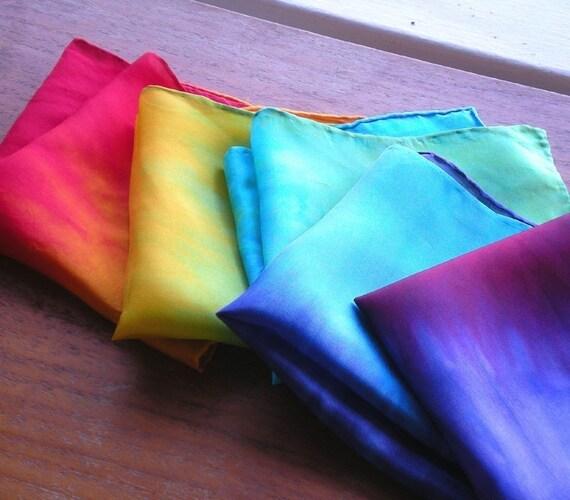 Play Silk Set of Five Lil' Silks(tm) Rainbow Blend