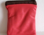 Closing Sale - Pink Leather Coin Pouch