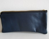 Closing Sale - Navy Leather Pen/Pencil Case