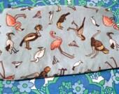 Lined Bird Zippered Pouch