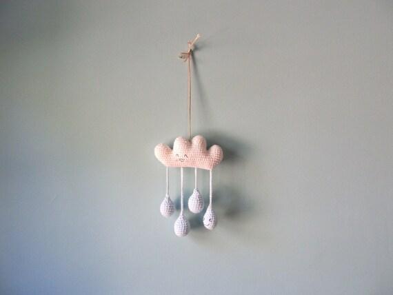 crochet amigurumi rainy cloud mobile