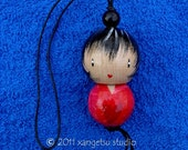 SALE - kokeshi doll ornament - kei