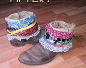 Recycled Cowboy Boot Makeover Boho Booties Made to Order