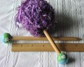 Handmade wood knitting needle sheep child short