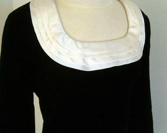1960s style mod dress in black velvet