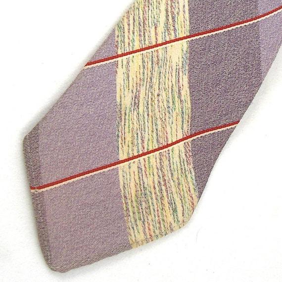 1940s necktie Sugar and Spice by Superba Cravats in lavender plaid