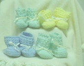 On Reserve for Gypsyskyes - 4 sets of Baby Booties