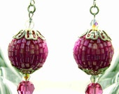 Berry Pink Earrings by Diana