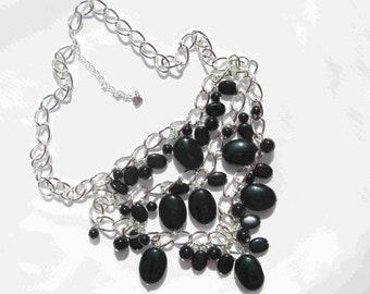 Black Beauty 3-Strand Necklace by Diana
