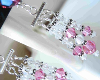 Luminescent Rose Earrings by Diana