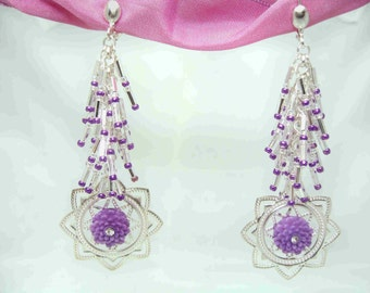 Lucious Lavender Earrings by Diana