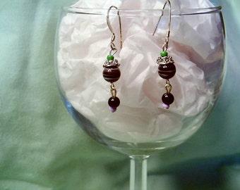 Cloisonne Fleurs Earrings by Diana