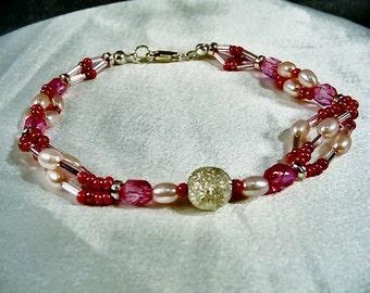 SALE-Hot Pink Dazzle Bracelet by Diana