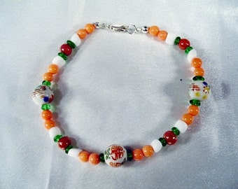 Floral Coral Bracelet by Diana